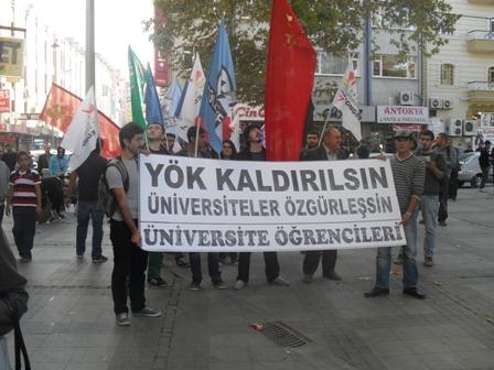Konya'da YÖK isyanı