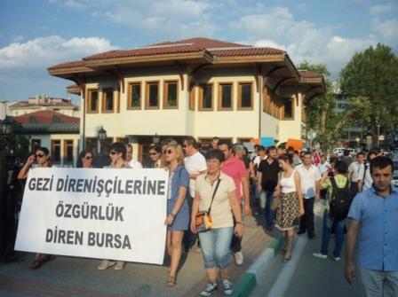 bursadan gozaltilara protesto