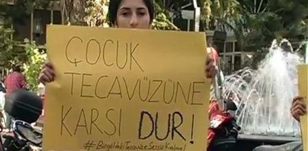 cinsel istismar protestosu
